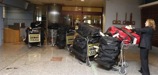 """""""ატლეტიკომ"""" რუსეთში 600 კგ. თბილი ტანსაცმელი ჩაიტანა"""