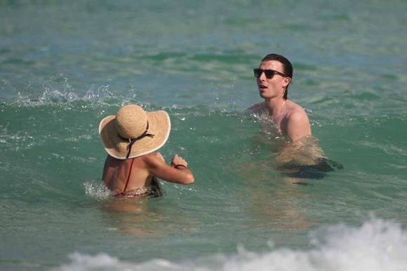 Riccardo Montolivo shirtless on his honeymoon