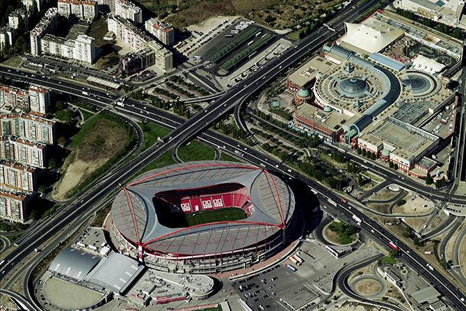 Aerial View Of Estádio da Luz - Benfica, Lisbon