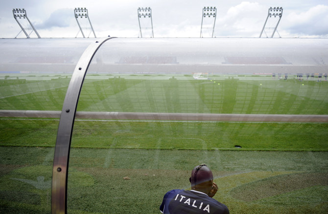 Italy's national team player Balotelli attends a training session during the EURO 2012 soccer tournament in Krakow