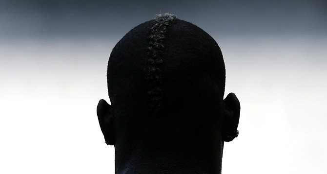 Italy's soccer player Balotelli attends a training session during the Euro 2012 in Krakow