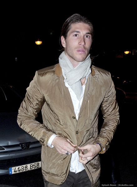 Real Madrid football players go for dinner in Madrid