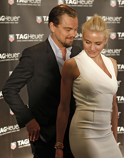 Leonardo DiCaprio And Cameron Diaz Attend F1 Monaco Grand Prix
