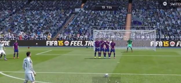 """კრიშტიანო რონალდუმ """"ბარსელონას"""" სუპერ გოლი გაუტანა (FIFA 15)"""