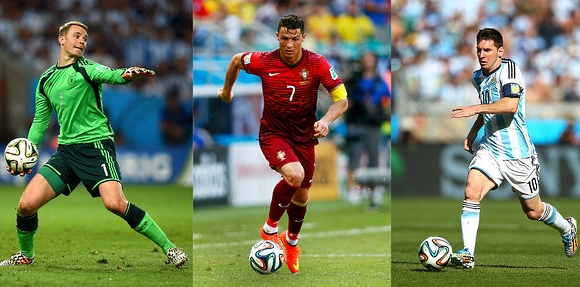 Lionel Messi - Cristiano Ronaldo - Manuel Neuer