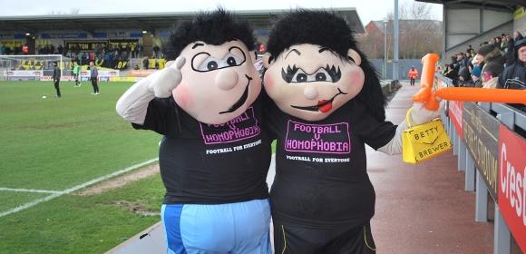 Football v Homophobia mascots