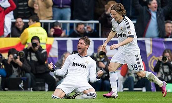 Sergio Ramos Luka Modric Real Madrid