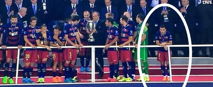 """პედრომ ჩემპიონობა """"ბარსელონას"""" ფეხბურთელებთან ერთად არ აღნიშნა! (ვიდეო)"""