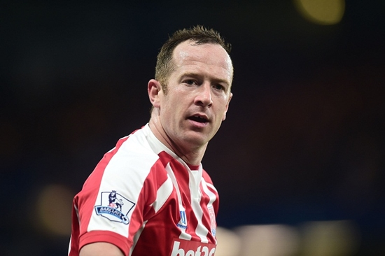 Stoke City's Charlie Adam during the Barclays Premier League match at Stamford Bridge, London. PRESS ASSOCIATION Photo. Picture date: Saturday April 4, 2015. See PA story SOCCER Chelsea. Photo credit should read: Adam Davy/PA Wire. RESTRICTIONS: Editorial use only. Maximum 45 images during a match. No video emulation or promotion as 'live'. No use in games, competitions, merchandise, betting or single club/player services. No use with unofficial audio, video, data, fixtures or club/league logos.