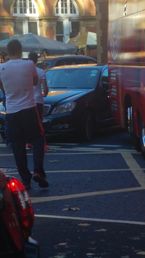 Bayern Munich team bus