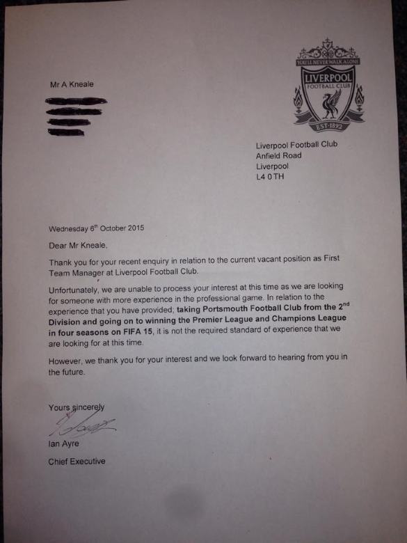 LFC letter