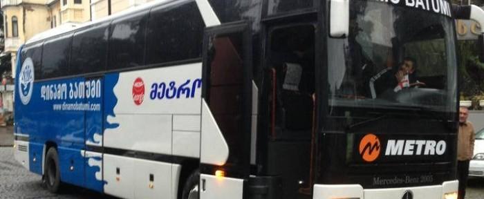 """ბათუმის """"დინამოს"""" საჩუქრად ავტობუსი გადაეცა"""