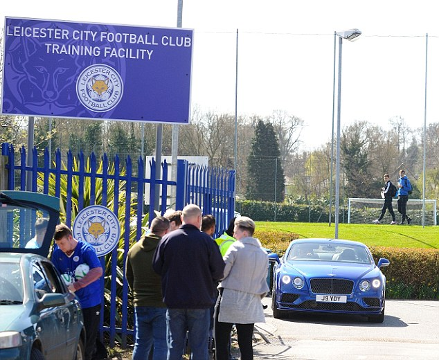 SPT_GCK_190416_ Football, Leicester City training ground. Picture Graham Chadwick. Jamie Vardy leaving training today.
