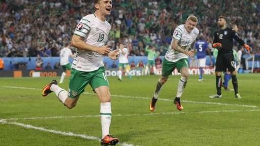 იტალია 0-1 ირლანდია: ირლანდიელებმა 1/8-ფინალის საგზური დამსახურებულად მოიპოვეს
