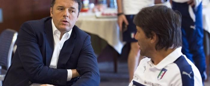 """იტალიის პრემიერ-მინისტრი """"სკუადრა აძურას"""" ფეხბურთელებს შეხვდა"""