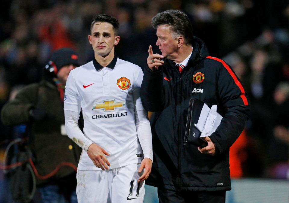 """Football - Cambridge United v Manchester United - FA Cup Fourth Round - R Costings Abbey Stadium - 14/15 - 23/1/15 Manchester United manager Louis Van Gaal talks to Adnan Januzaj after the match Mandatory Credit: Action Images / Andrew Couldridge EDITORIAL USE ONLY. No use with unauthorized audio, video, data, fixture lists, club/league logos or """"live"""" services. Online in-match use limited to 45 images, no video emulation. No use in betting, games or single club/league/player publications. Please contact your account representative for further details."""