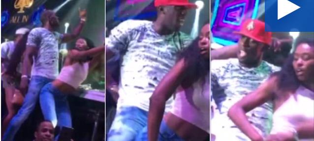 როგორ ერთობა უსეინ ბოლტი ერთ-ერთ ბრაზილიელ გოგოსთან კლუბში? (ვიდეო)