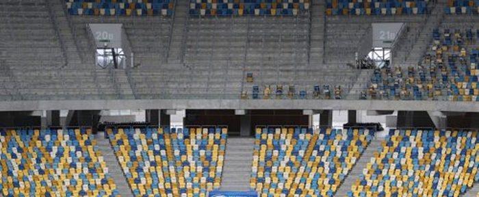 ევროვიზიის კონკურსისთვის კიევში სკამები ლვოვის სტადიონიდან მიაქვთ (ფოტო)