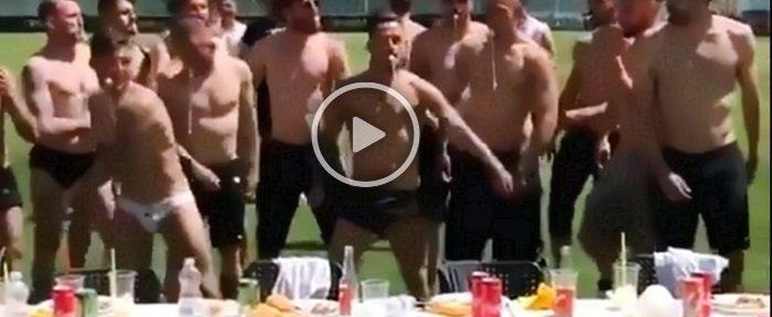 """""""ფოჯას"""" ფეხბურთელებმა სერია B-ში დაბრუნება ორიგინალურად აღნიშნეს (ვიდეო)"""